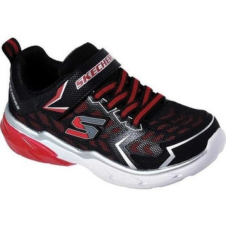 Skechers Boys' Thermoflux Nano Grid Sneaker Black/Red