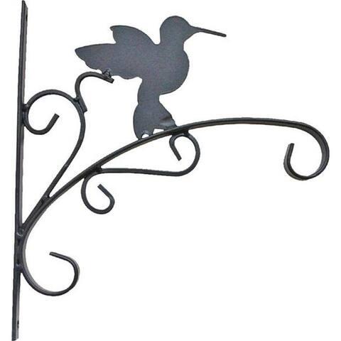 "Mintcraft GB-3019 Hum Bird Hanging Plant Bracket, 11"" L, Wall Mount, Matte Black"