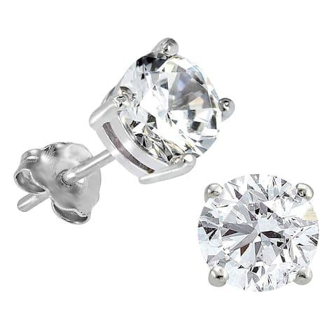 Smiling Rocks 14K 1.50Ct Lab Grown K-L/VS Diamond Four Prong Stud Earrings