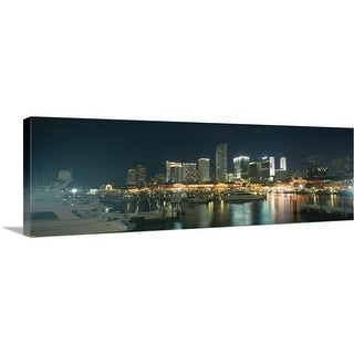 """Boats at a harbor with buildings in the background Miami Yacht Basin Miami Florida"" Canvas Wall Art"
