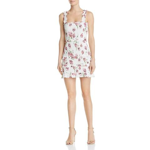 Parker Womens Laurel Casual Dress Floral Print Tiered - Ivory Magnolia