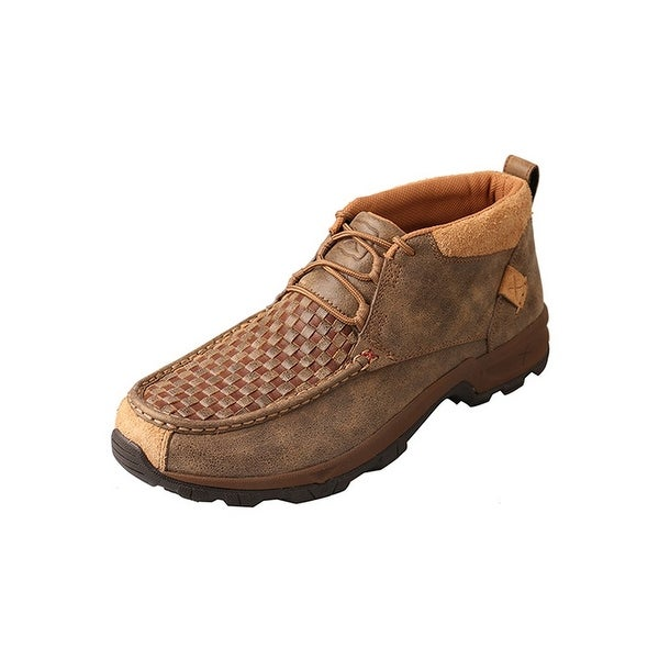 Twisted X Casual Shoes Men Hiker Woven Red Buckle Brown Bomber