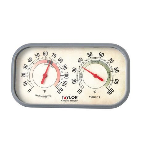 """Taylor 5506 Comfort Monitor Thermometer And Humidity Reader, 6"""""""