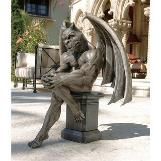 Design Toscano Halloween  Socrates, the Gargoyle Thinker Sculpture