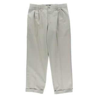 Dockers Mens Double Pleat Relaxed Fit Khaki Pants