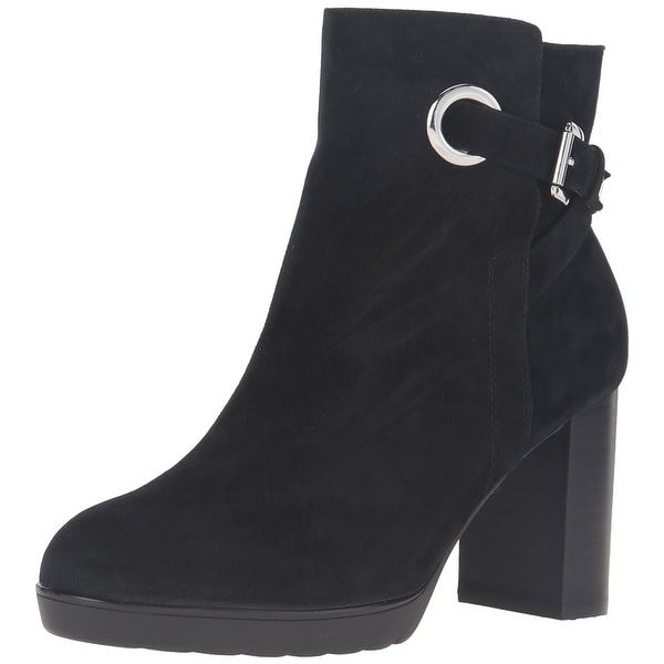 Bella Vita Womens zelda Suede Almond Toe Ankle Fashion Boots