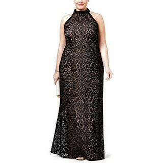 Nightway Plus Size Lace Evening Gown Dress - 14W