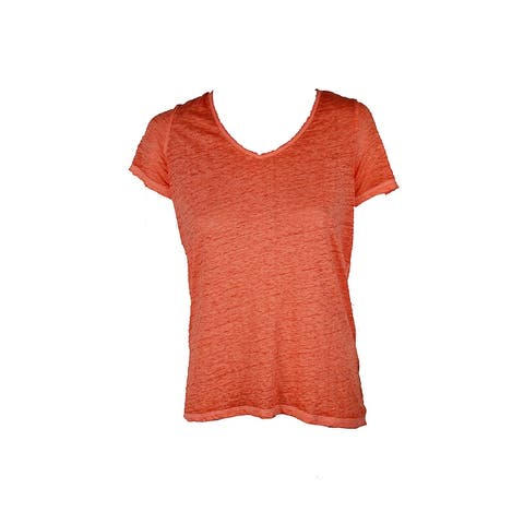 Inc International Concepts Orange V-Neck T-Shirt S