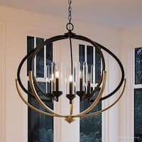 """Luxury Mediterranean Chandelier, 27.875""""H x 33.75""""W, with Contemporary Style, Olde Bronze Finish by Urban Ambiance"""