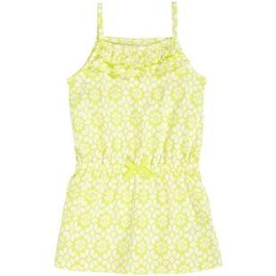 Carter's Little Girls' Geometric Tank Tunic (5, Yellow/white)