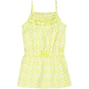 Carter's Little Girls' Geometric Tank Tunic (5, Yellow/white)