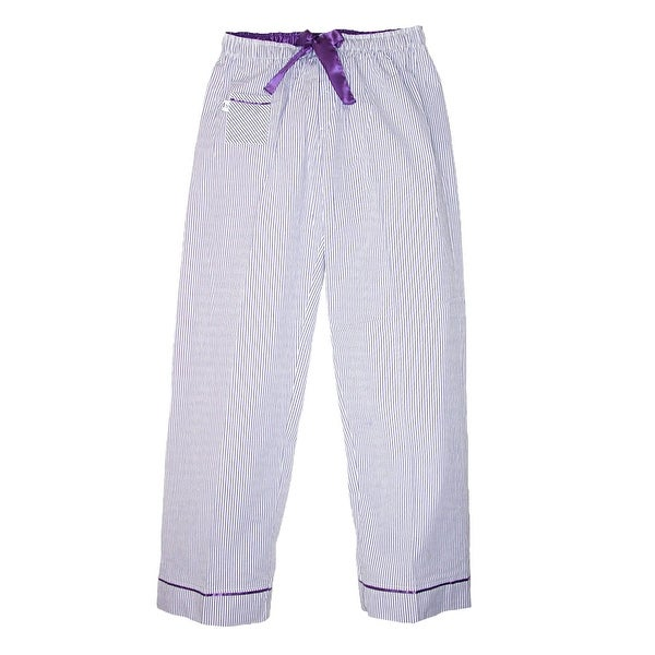Boxercraft Women's Seersucker Pajama Pants with Satin Trim