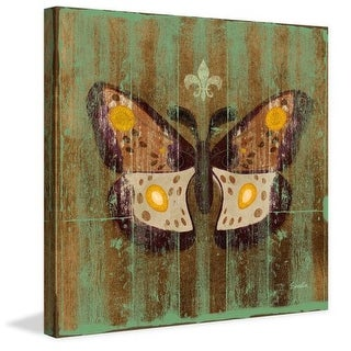 Marmont Hill Arcadian Day Moth Evelia Painting Print on Canvas