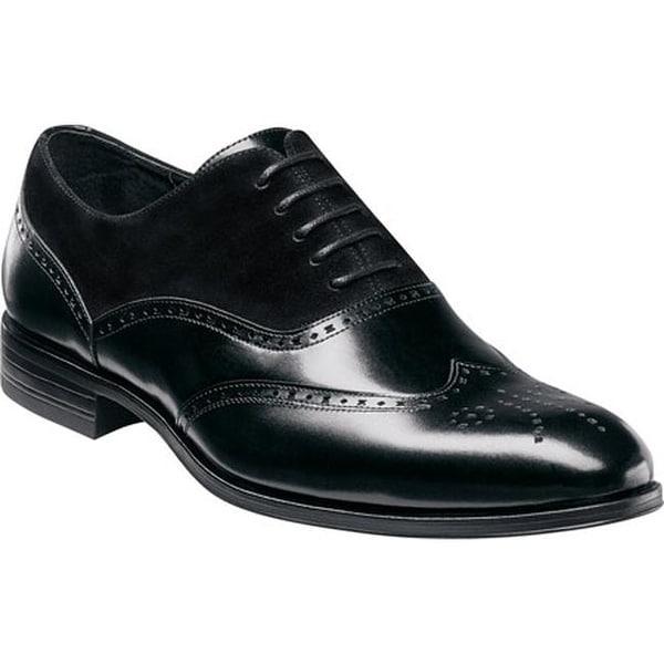 49e3c68fa0a4f Shop Stacy Adams Men's Stanbury Wingtip Oxford 25070 Black Leather ...