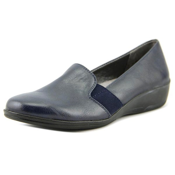 Life Stride Isabelle Women W Round Toe Leather Blue Loafer