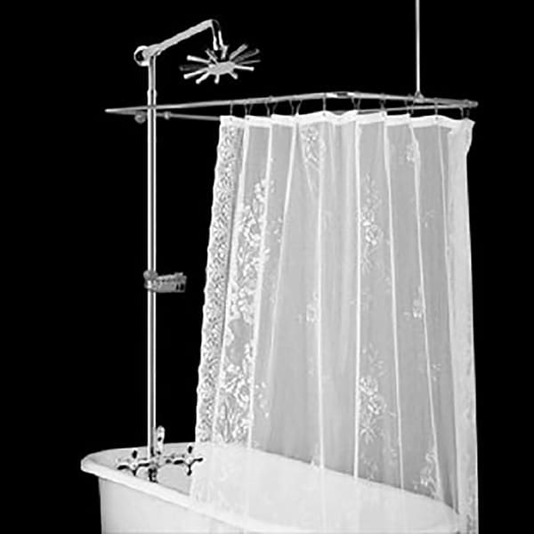Clawfoot Tub Wall Mount Shower Set Rectangular Enclosure | Renovator's Supply
