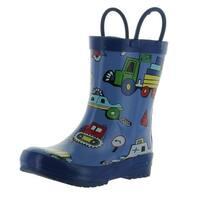 Pluie Pluie Boys Truck And Car Print Fashion Rainboots - truck/car