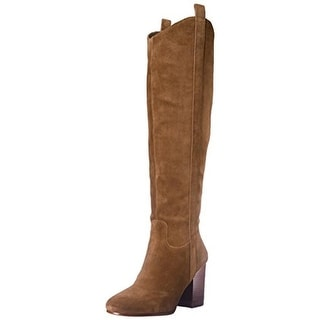 Via Spiga Womens Babe Knee-High Boots Suede Stacked