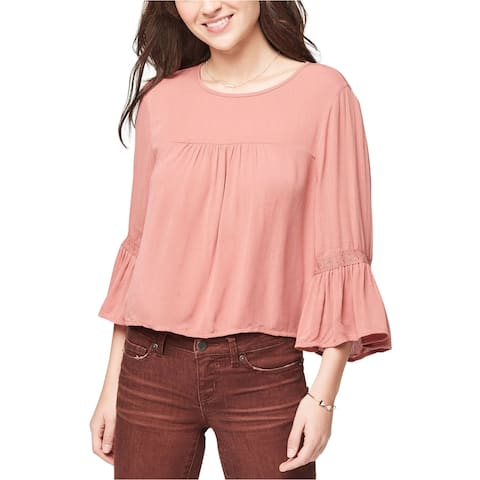 Aeropostale Womens Crinkled Peasant Blouse