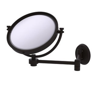 Allied Brass 8-in Wall Mounted Extending Make-Up Mirror 2X Magnification