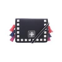 03b6a3cbd622 Catherine Malandrino Womens Lillian Shoulder Handbag Faux Leather Flap -  Small