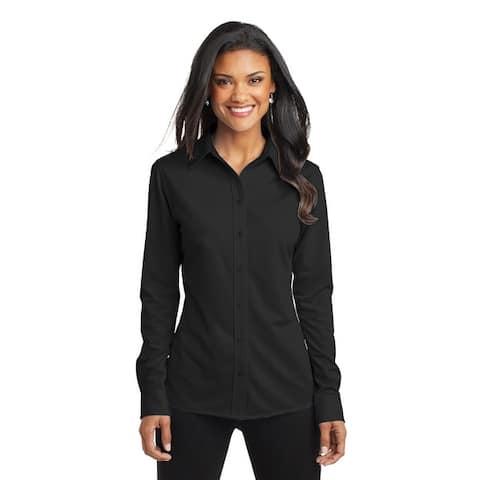 Port Authority Women's Dimension Knit Dress Shirt