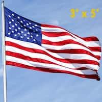 Image 3' x 5' USA US U.S. Flag American Flag w/ Sewn Stripes Embroidered Stars