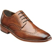 Florsheim Men's Castellano Wing Tip Saddle Tan Smooth Leather