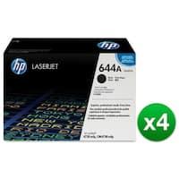 HP 644A Black Original LaserJet Toner Cartridge (Q6460A)(4-Pack)
