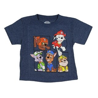 Paw Patrol Toddler Little Boys' Chase Marshall Rubble Zuma And Rocky T-Shirt