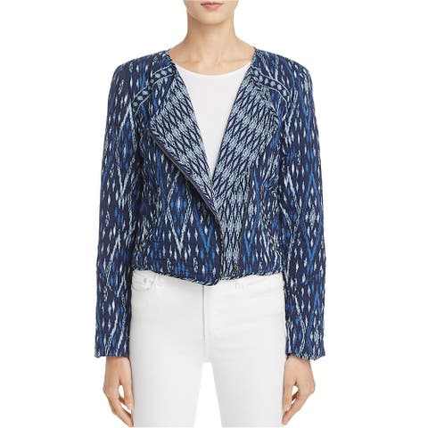 Soft Joie Womens Akinyi Crop Quilted Jacket, blue, Small