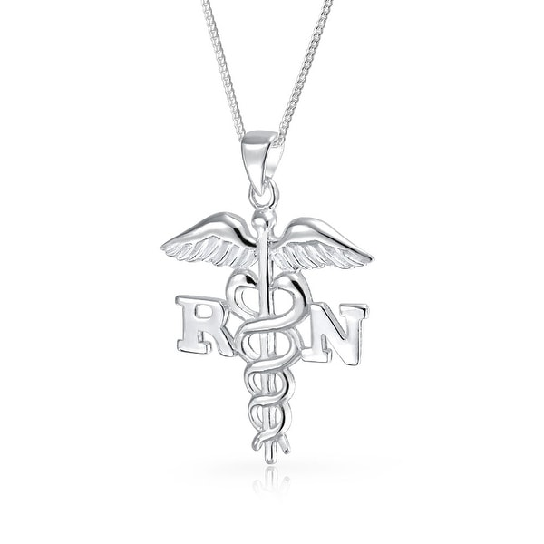 Shop Bling Jewelry Rn Registered Nurse Symbol Caduceus Pendant