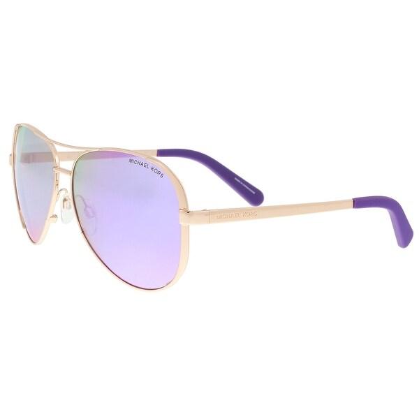 1cb4b0365a Michael Kors MK5004 10034V Rose Chelsea Gold Aviator Sunglasses - 59-13-135