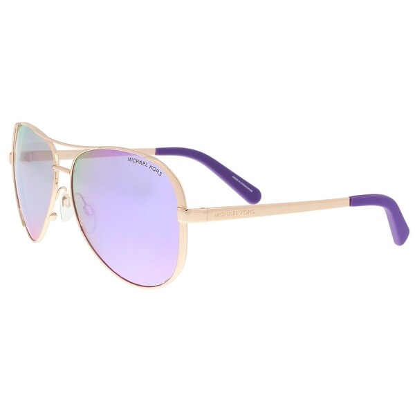 3a352e64f Michael Kors MK5004 10034V Rose Chelsea Gold Aviator Sunglasses - 59-13-135