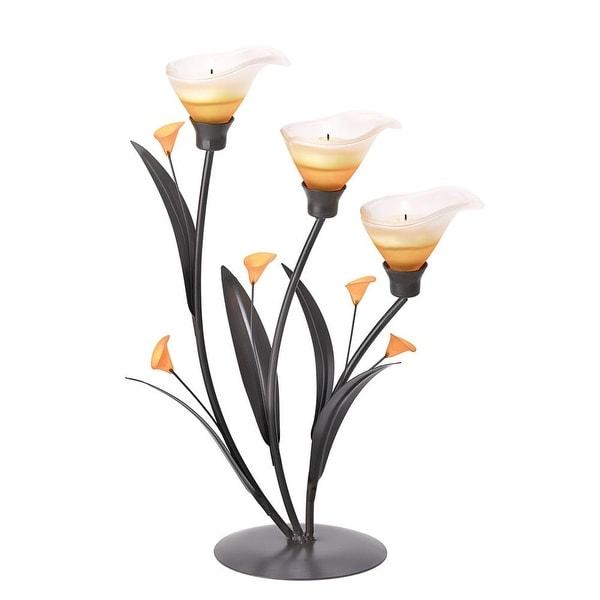 Newly Amber Lilies Tealight Holder