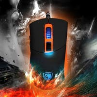 SADES S8 USB Gaming Mouse Professional Game Mice Adjustable 8 Buttons LED Light