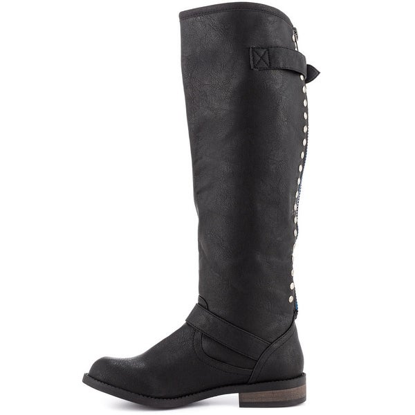 Just Fab Womens Dorsey Closed Toe Knee High Fashion Boots