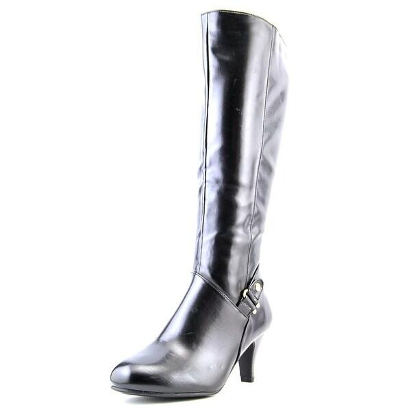 Karen Scott Harloww Women Black/Wide Calf Boots