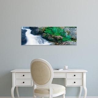 Easy Art Prints Panoramic Image 'South Fork Cascade Creek, Grand Teton National Park, Teton County, Wyoming' Canvas Art