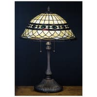 Meyda Tiffany 27538 Stained Glass / Tiffany Table Lamp from the Tiffany Roman Collection - n/a