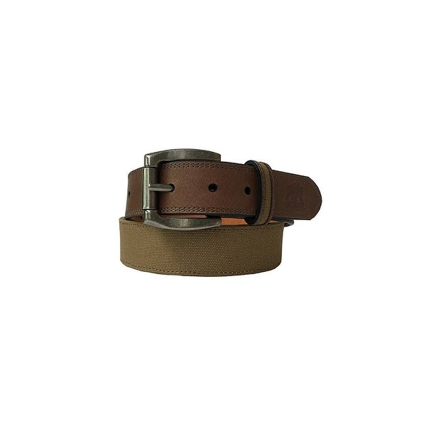 Berne Work Belt Mens Reversible Leather Antique Nickel Finish 7516500