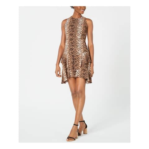 19 COOPER Brown Sleeveless Mini Dress XL