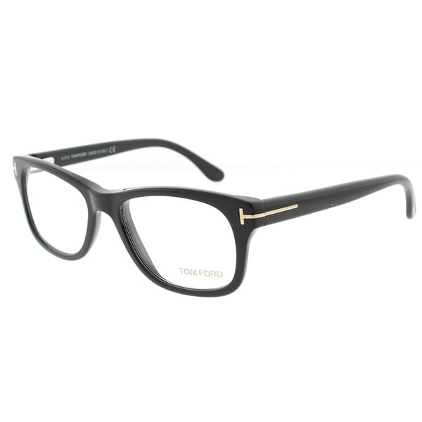Tom Ford TF 5147 001 52mm Shiny Black Unisex Square Eyeglasses - Shiny Black - 52mm-17mm-145mm