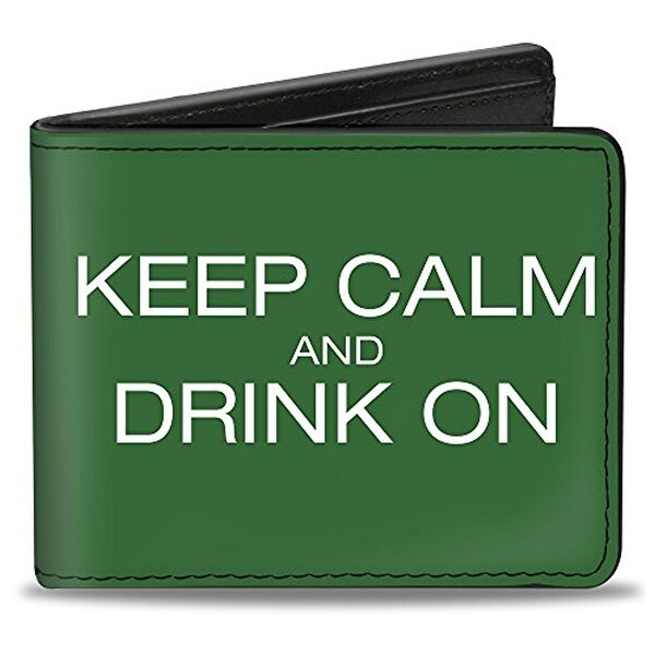 Buckle-Down Bifold Wallet Drinking Quote