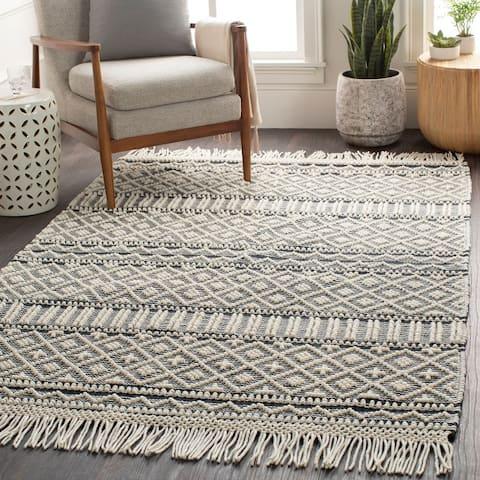 Adamsen Handmade Modern Wool Area Rug