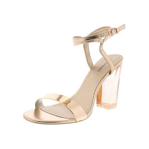 Call It Spring Womens Ocalide Dress Heels Metallic Faux Leather