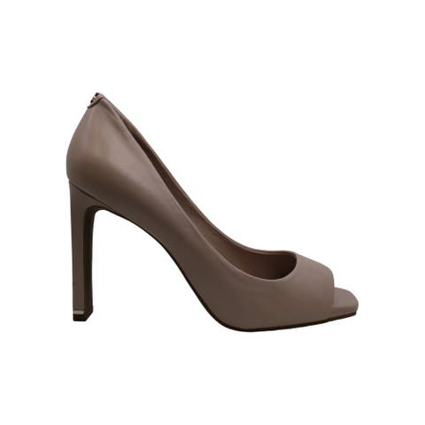 DKNY Womens Claudia Leather Peep Toe Classic Pumps