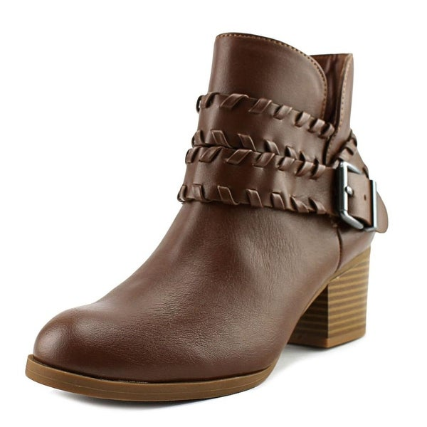 Style & Co Dyanaa Women Round Toe Synthetic Brown Ankle Boot