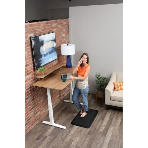 SmartMoves Sit/ Stand Adjustable Desk with Shelf