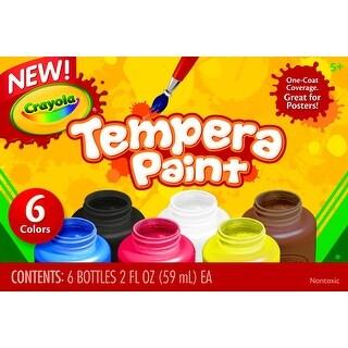 Crayola Tempera Paint Set, 2 oz Bottle, Assorted Color, Set of 6